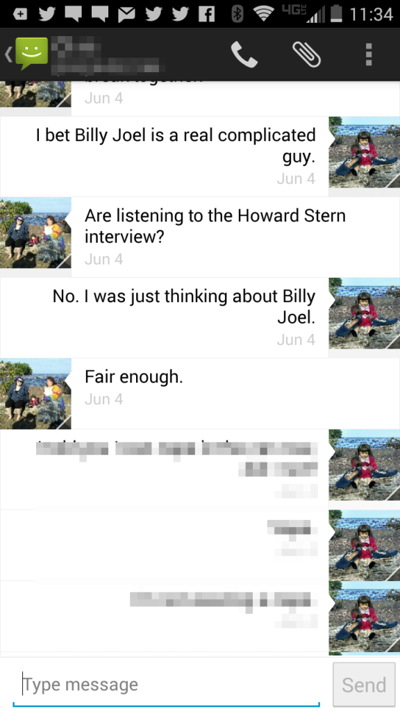 Billy Joel text