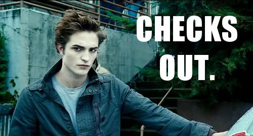 Edward Checks Out