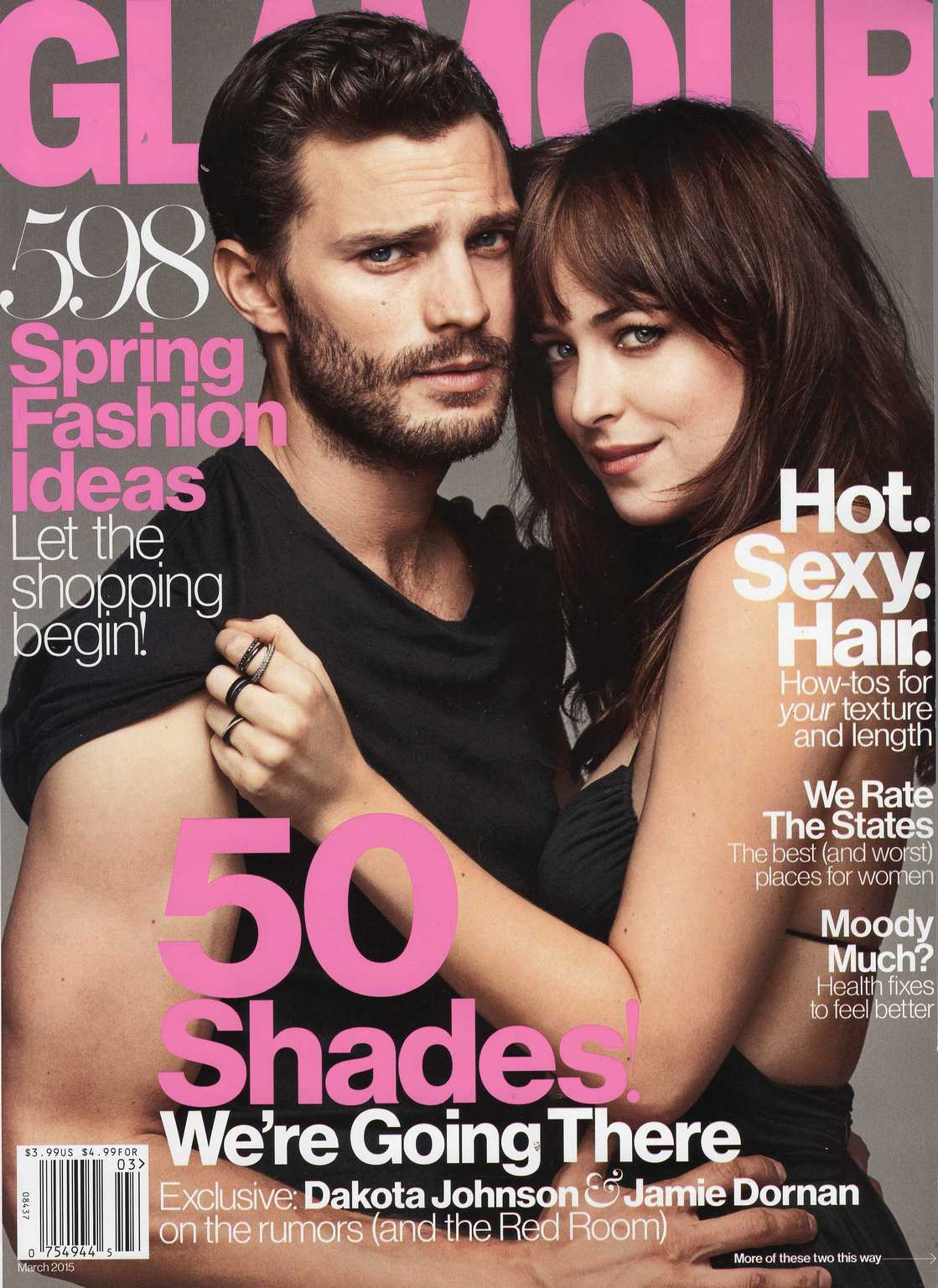 On the left we have the cover of entertainment weekly just after casting was announced in november 2013 on the right we have the cover of glamour