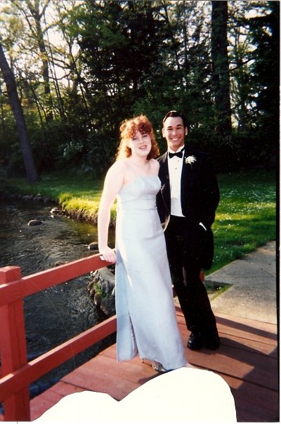 Imagine Bernadette Peters, but taller and 17 years old, standing next to a guy who looks like Paul Rudd's more meticulously groomed brother. We're on a bridge in Milham park in Portage, MI.