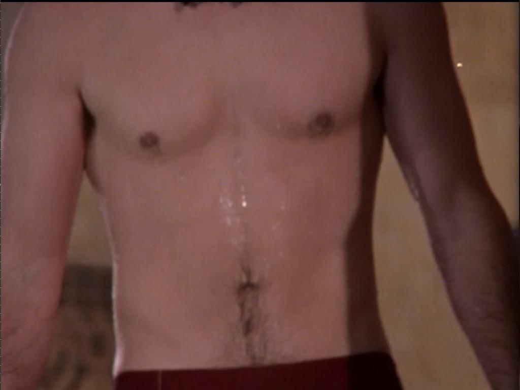 reasonably muscular bare torso