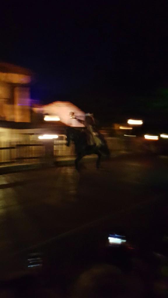 Very blurry photo of the Headless Horseman