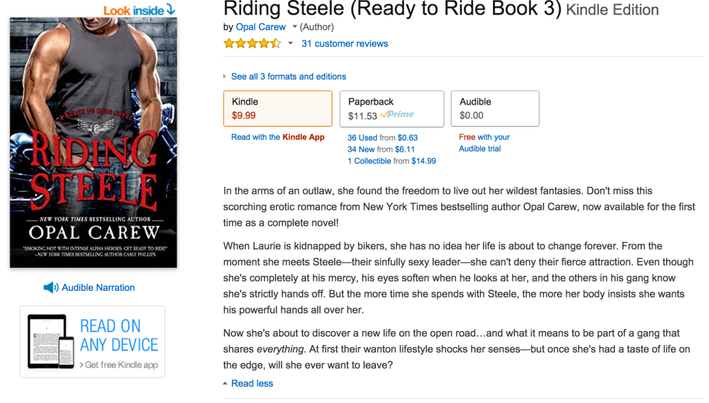riding steele product description