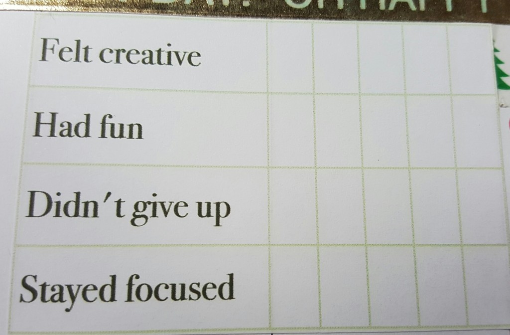 "Another table, this time with five columns and four rows. The rows are labeled ""Felt creative,"" ""had fun,"" ""didn't give up,"" and ""stayed focused."""