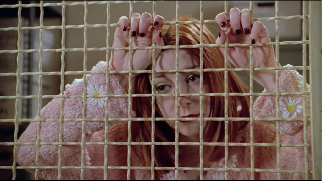 Vampire!Willow grasps the wires of the cage and leans against her prison, incapacitated with boredom and despair.