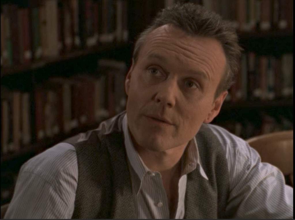 Giles is making a face like he wants to say something, but knows there's nothing to say because everything Cordelia just said is 100% true.