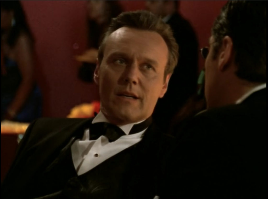 Giles is still wearing a tux. This is not a gratuitous photo at all.