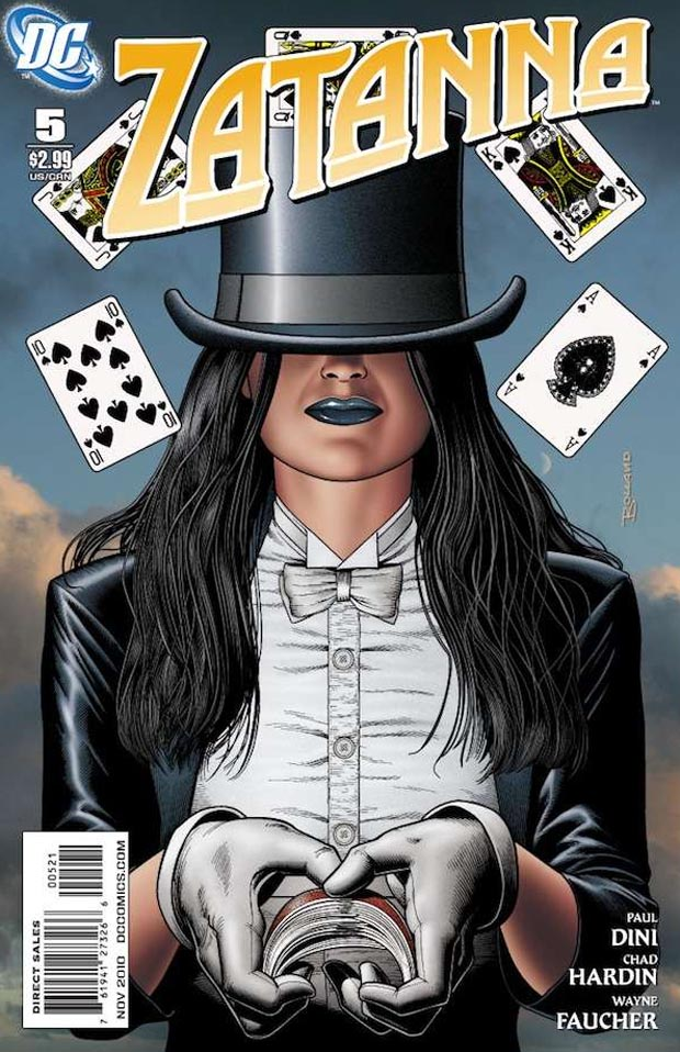 A comic book cover depicting DC's Zatana.