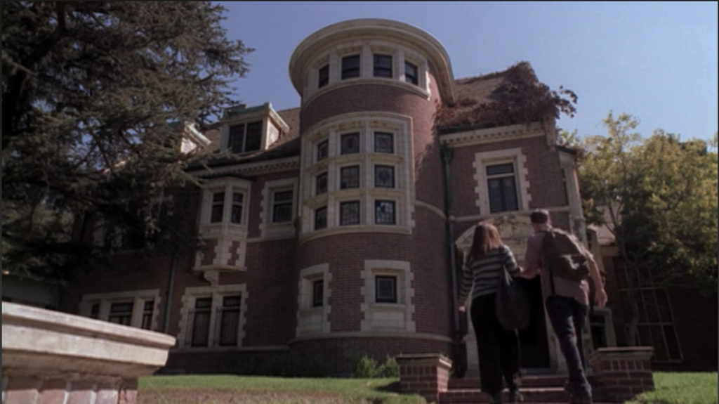 An exterior shot of the house from season one of American Horror Story.