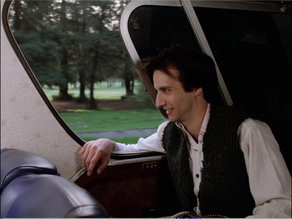 Balki on a bus that still had windows you could open because the 1980s were like that.