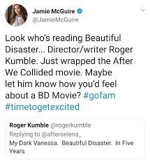 a tweet from Jamie McGuire, text in post body